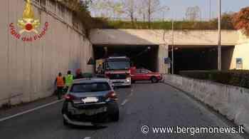 Incidente all'uscita della galleria tra Presezzo e Bonate Sopra - Bergamo News - BergamoNews.it