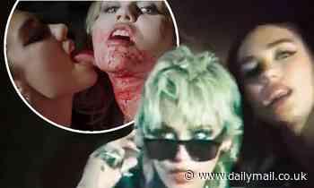 Miley Cyrus and Dua Lipa star in steamy sapphic Prisoner music video