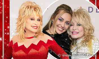 Dolly Parton and Miley Cyrus duet on her new Christmas album - Daily Mail