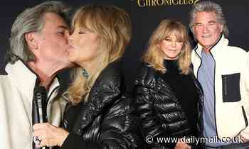 Goldie Hawn and Kurt Russell cuddle up and share a kiss at The Christmas Chronicles 2 premiere in LA