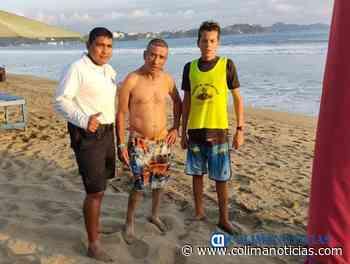Salvan a masculino de las corrientes marinas en playa de Miramar - colimanoticias