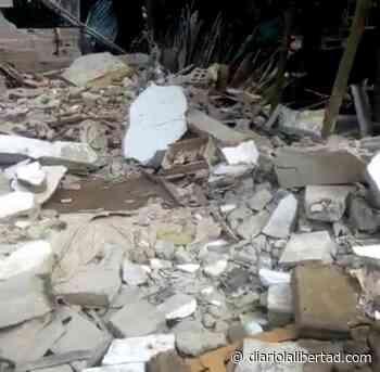 Vivienda colapso esta mañana en el barrio la Unión de Luruaco - Diario La Libertad