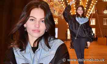 'Most beautiful girl in the world' Thylane Blondeau turns on Christmas lights in Paris