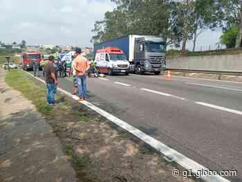 Motociclista morre após bater em caminhão na Rodovia Campinas-Monte Mor, em Hortolândia - G1