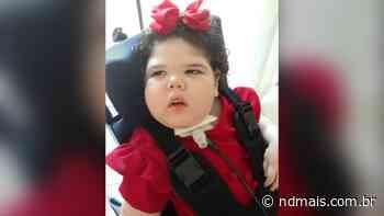 """Menina de três anos moradora de Palmitos morre por Covid-19: """"Perdemos a luta"""", diz mãe - ND - Notícias"""