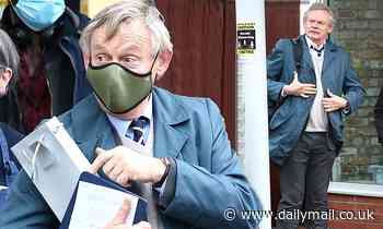 Martin Clunes gets to work on the second series of Manhunt