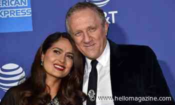 Salma Hayek wows in hot pink swimsuit in rare family photo with husband and daughter