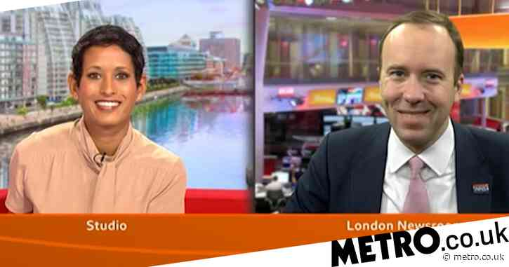 'She's taking him apart': Naga Munchetty backed by viewers as she grills Matt Hancock over pay freeze