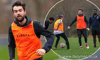 Jack Whitehall appears to BREAK lockdown rules as he plays football with large group at the park