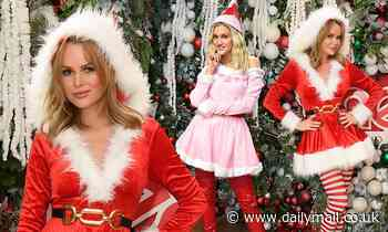 Amanda Holden andAshley Roberts wow in racy festive costumes at Heart FM
