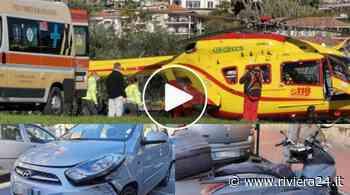 Ventimiglia, scontro scooter auto in corso Genova. Grave un uomo - Riviera24