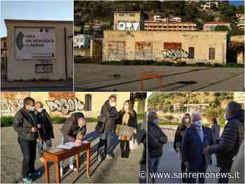 Ventimiglia: l'arte e la storia non si fermano, via ai lavori per la demolizione delle ex cabine Enel sul piazzale del teatro romano (Foto e Video) - SanremoNews.it