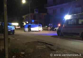 Incidente a Induno Olona, un'auto si ribalta - varesenews.it
