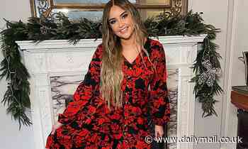 Jacqueline Jossa looks radiant in a red floral dress after saying sizes don't bother her