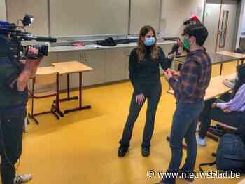 Laura Tesoro bezoekt College Ten Doorn voor Rode Neuzenactie