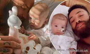 EOTB's Ashley Cain brings daughter Azaylia home for a few days before more treatment