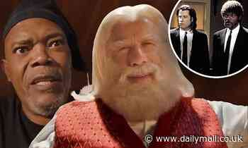 John Travolta and Samuel L. Jackson reference their Pulp Fiction roles in a new holiday ad