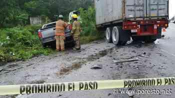 Aparatoso choque deja un muerto en la carretera Tulum-Cobá - PorEsto