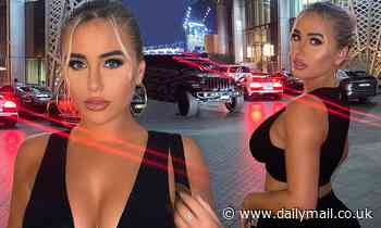 Love Island's Ellie Brown puts on busty display with Kaz Crossley in Dubai