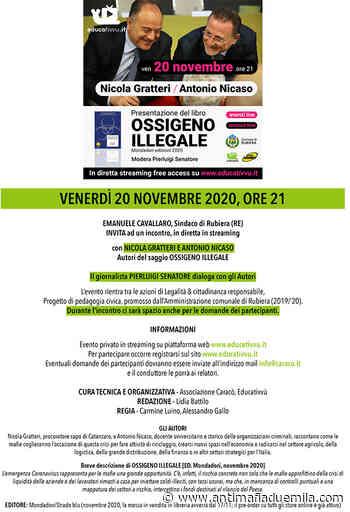 Presentazione del libro ''Ossigeno illegale''- Rubiera (RE), 20 Novembre - Antimafia Duemila