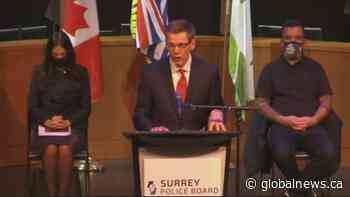 Surrey hires first police chief for new municipal police force