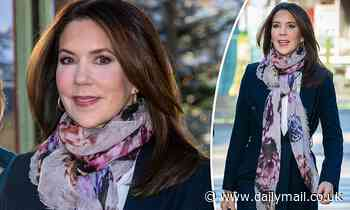 Princess Mary of Denmark looks chic in a navy trench coat for UNICEF World Children's Day