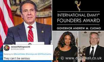 Andrew Cuomo awarded EMMY for COVID-19 press conferences