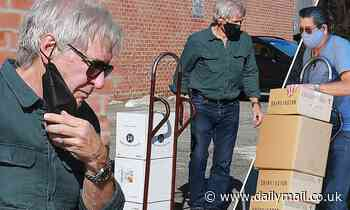 Harrison Ford swings by LA wine shop to stock up on alcohol a day before California lockdown