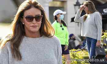 Caitlyn Jenner goes mask-free during a shopping trip in Calabasas before taking a selfie with a fan