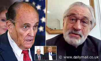 De Niro says that Rudy Giuliani has gone from prosecuting the mafia to 'representing a mob family'