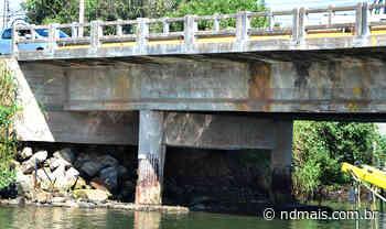 Justiça determina interdição da ponte sobre o rio Itajuba, em Barra Velha - ND - Notícias