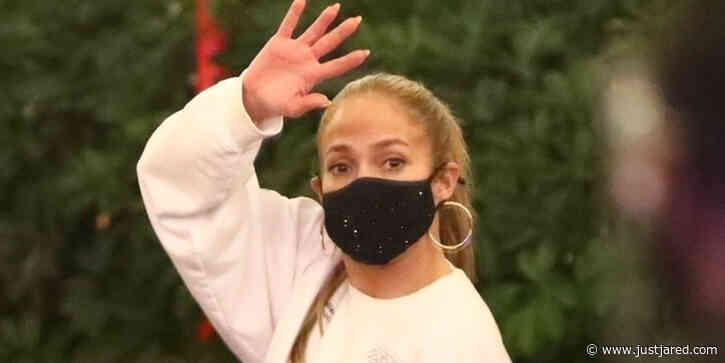 Jennifer Lopez Wears A Casual Sweatsuit With An Important Message On The Back To Dinner With Alex Rodriguez