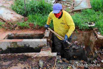 Prevendo chuvas intensas, Seinfra intensifica limpeza em Aparecida - Folha Z