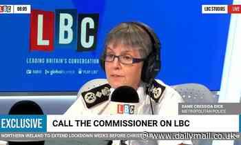 Covid UK: Cressida Dick says police WON'T interrupt Christmas dinner