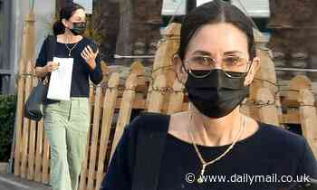 Courteney Cox masks up in Malibu one day after wrapping the fifth Scream film