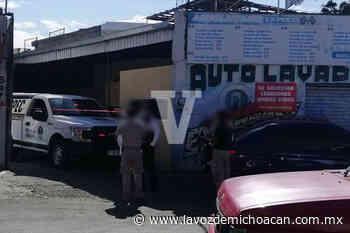 Otro asesinato en Morelia: de un balazo en la cabeza, matan a un hombre dentro de un autolavado - La Voz de Michoacán