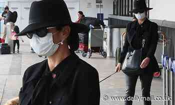 Catherine Zeta-Jones arrives to Los Angeles after ringing in20th anniversary with Michael Douglas