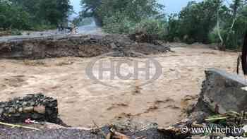 ¡Incomunicados! Quebrada destruye paso entre El Progreso y Santa Rita - hch.tv