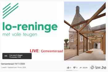 Eerste digitale gemeenteraad in Lo-Reninge - Politiek - KW - Krant van Westvlaanderen