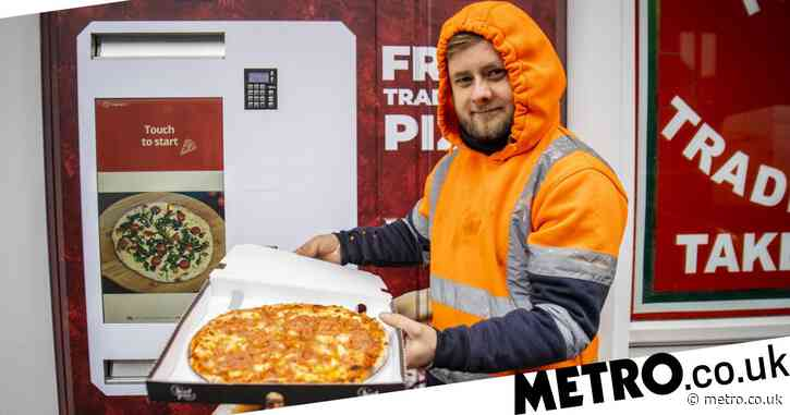 Pizza vending machine built so restaurant can work around lockdown restrictions