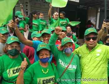 Candidatos de la Alianza Democrática en campaña en Los Guayos - El Carabobeño