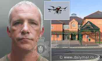 Stalker who used a DRONE to spy on his ex-partner and her male friend is jailed for four months