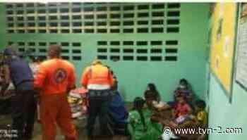 Evacuan a 55 personas por desbordamiento de río Divalá en Alanje - TVN Noticias