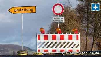Straßenarbeiten in Schierbrok Ganderkesee: Sperrung - Nordwest-Zeitung