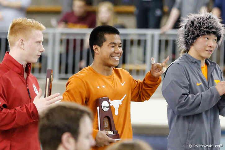 Texas' Jordan Windle Wins Men's 3-meter Title at UT Diving Invitational