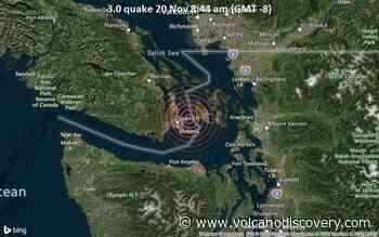 Small magnitude 3.0 earthquake 7 miles northeast of Victoria, British Columbia - VolcanoDiscovery