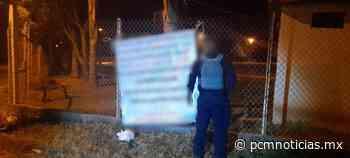 Lo detienen mientras colgaba narcomantas, en Uruapan - PCM Noticias