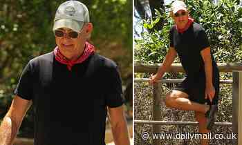 Tom Hanks cuts a casual figure as he hikes in the Gold Coast