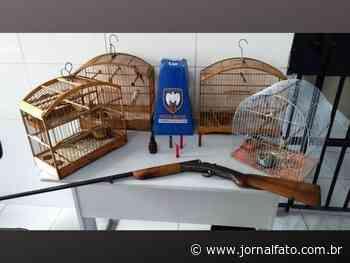 Polícia Ambiental apreende armas de fogo e animais silvestres em Muniz Freire - Jornal FATO