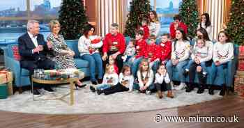 Britain's biggest family ready for Christmas as Sue Radford decorates house